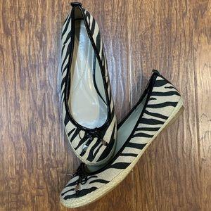 Andrew Geller Gianni espadrilles flats zebra print